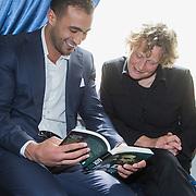 NLD/Amsterdam/20140422 - Boekpresentatie Badr Hari, Badr en zijn advocate Benedicte Ficq