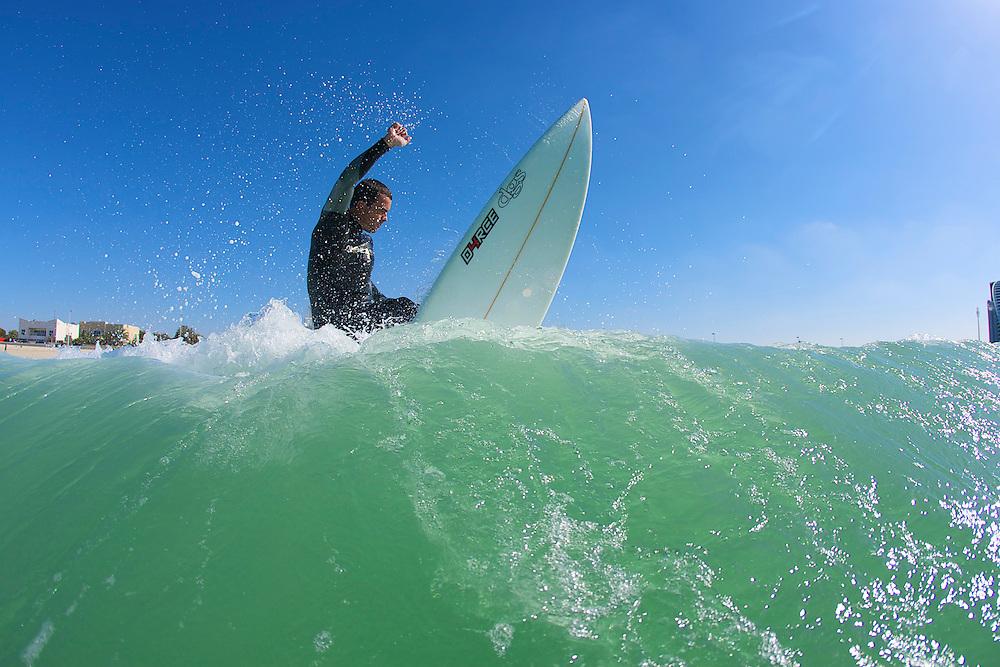 Scott Clephane surfing