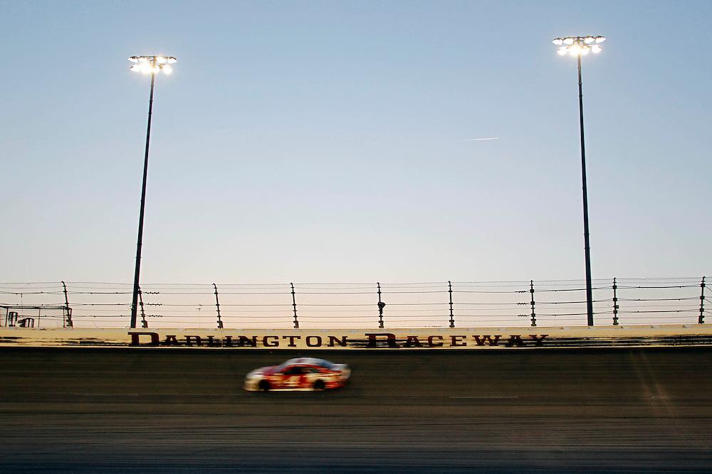 Apr 12, 2014; Darlington, SC, USA; NASCAR Sprint Cup driver Kevin Harvick (4) during the Southern 500 at Darlington Raceway. Mandatory Credit: Peter Casey-USA TODAY Sports