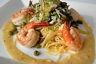 19 JUNE 2009 -- CHESTERFIELD, Mo. -- Seasons Saint Louis, a French-American bistro, recently opened in Chesterfield, Mo. Shrimp Scampi Prima Vera is among the items that will be featured on the summer menu. Photo © copyright 2009 Sid Hastings.