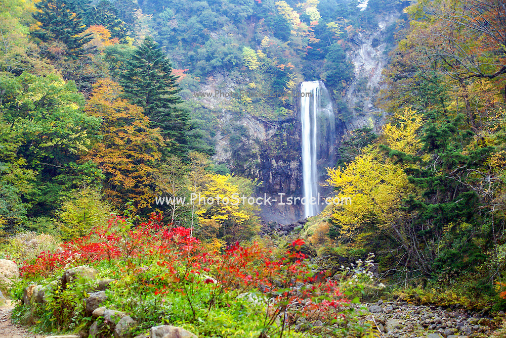 Japan, Waterfall, near Takayama, Gifu Prefecture