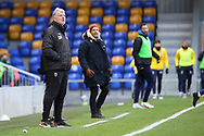 AFC Wimbledon manager Glyn Hodges looking at pitch during the EFL Sky Bet League 1 match between AFC Wimbledon and Bristol Rovers at Plough Lane, London, United Kingdom on 5 December 2020.