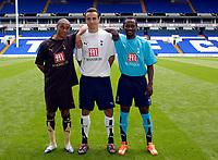 Photo: Daniel Hambury.<br />Tottenham Hotspur PC. 31/07/2006.<br />New Spurs players L-R; Benoit Assou-Ekotto, Dimitar Berbatov and Didier Zokora.