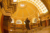 Statues of famous learned men, above the Main Reading Room, Thomas Jefferson Building, The Library of Congress, Washington D.C., U.S.A.