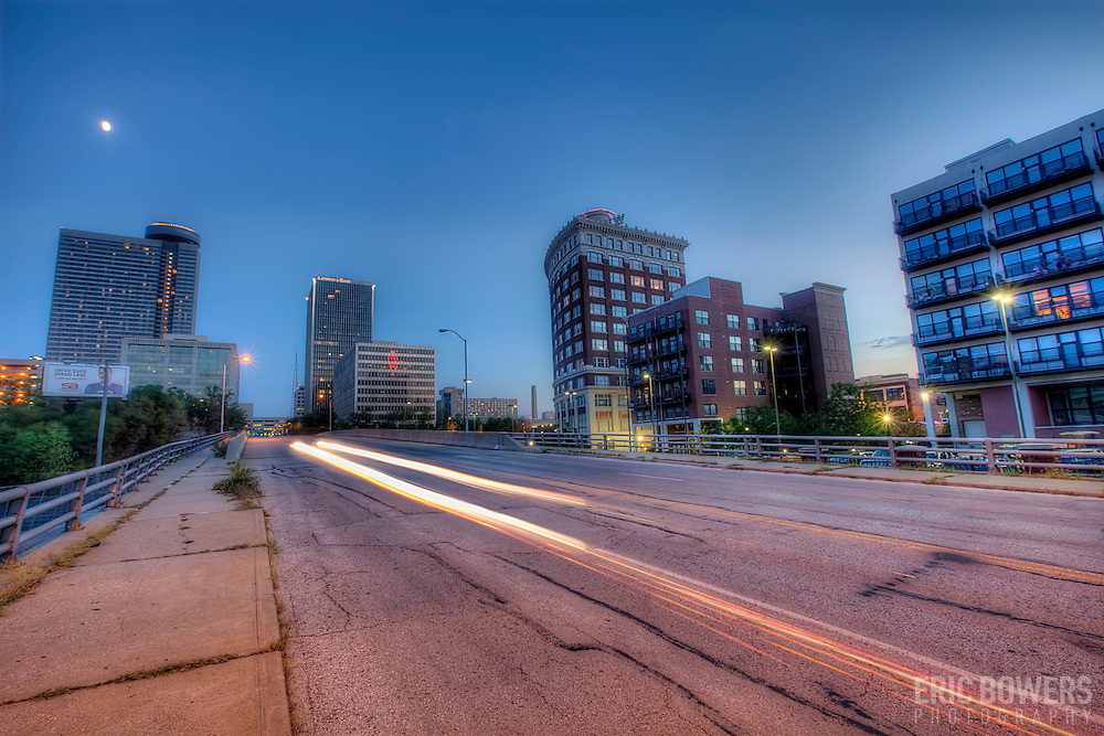 Along McGee south of 20th Street in Downtown Kansas City, Missouri.