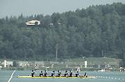 .Barcelona Olympic Games 1992.Olympic Regatta - Lake Banyoles.ROM M8+.       {Mandatory Credit: © Peter Spurrier/Intersport Images]..........       {Mandatory Credit: © Peter Spurrier/Intersport Images]......... Rowing Course: Lake Banyoles