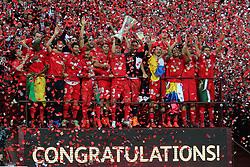 27.05.2015, Nationalstadion, Warschau, POL, UEFA EL, Dnjepr Dnjepropetrovsk vs FC Sevilla, Finale, im Bild FC Sevilla, radosc, Europa League, football, // during the UEFA Europa League final match between Dnjepr Dnjepropetrovsk and FC Sevilla Nationalstadion in Warschau, Poland on 2015/05/27. EXPA Pictures © 2015, PhotoCredit: EXPA/ Newspix/ fot. Tomasz Jastrzebowski / Foto<br /> <br /> *****ATTENTION - for AUT, SLO, CRO, SRB, BIH, MAZ, TUR, SUI, SWE only*****