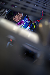 July 13, 2018 - Sparta, Kentucky, United States of America - Kyle Larson (42) gets ready to practice for the Quaker State 400 at Kentucky Speedway in Sparta, Kentucky. (Credit Image: © Stephen A. Arce/ASP via ZUMA Wire)