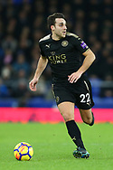 Matthew James of Leicester City in action. Premier league match, Everton v Leicester City at Goodison Park in Liverpool, Merseyside on Wednesday 31st January 2018.<br /> pic by Chris Stading, Andrew Orchard sports photography.