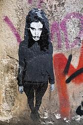 Street art within courtyard off Rosenthaler Strasse in Mitte Berlin Germany