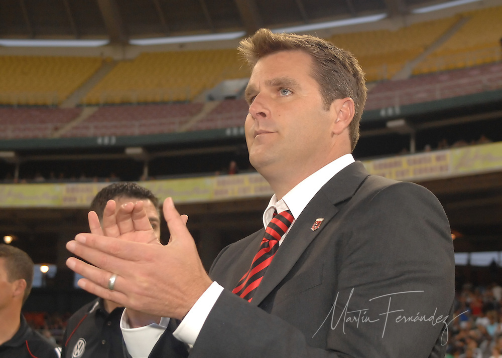DC United Head Coach Curt Onalfo prior to his teams home opening match of the 2010 season. DC United lost its 2010 opening match 2-0 to the visiting New England Revolution at RFK Stadium in Washington, D.C.