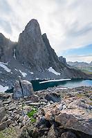 Pronghorn Peak and Lake Donna. Bridger Wilderness, Wind River Range Wyoming