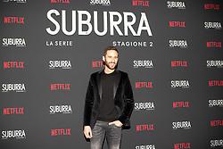 Jacopo Venturiero at the Red Carpet of the series Suburra 2 at Circolo Degli Illuminati in Rome, Italy, 20 February 2019  (Credit Image: © Lucia Casone/Soevermedia via ZUMA Press)