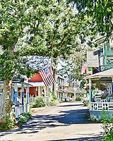 Gingerbread Cottages at Oak Bluffs,Martha's Vineyard, Massachusetts, USA.