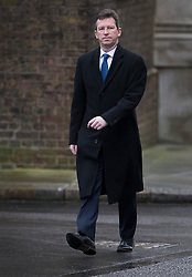 © Licensed to London News Pictures. 01/03/2016. London, UK. Greg Clark, Secretary of State for Communities and Local Governmen,t arrives for a cabinet meeting. Photo credit: Peter Macdiarmid/LNP