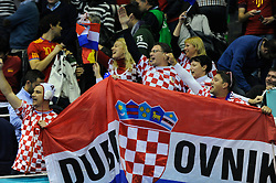 Croatian fans during the match against France (Photo by Sportida Photo Agency)