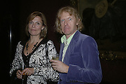 POLLY ROBINSON AND GRAYSON PERRY, Owning Art- The Contemporary Art Collectors Handbook by Judith Greer and Louisa Buck. National Gallery. London. 2 October 2006. -DO NOT ARCHIVE-© Copyright Photograph by Dafydd Jones 66 Stockwell Park Rd. London SW9 0DA Tel 020 7733 0108 www.dafjones.com