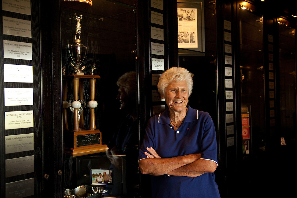 Portrait of golfer Kathy Whitworth, photographed in Trophy Club, Texas on Tuesday, June 9 2009. Photograph © 2009 Darren Carroll