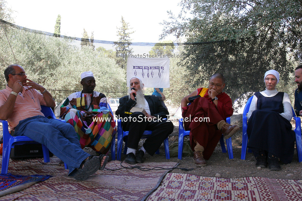 Arab and Jewish Israeli youth gathered at the Latrun Monastery for the Sulhita festival, one of three initiatives organized by the interfaith Sulha Peace Project to give Arabs and Jews a chance to mix freely in a relaxed atmosphere uninhibited by political tensions.