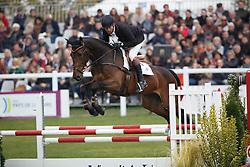 Laschet Hugo, (BEL), Ichark De Monfirak<br /> Jumping 6 years of age<br /> Mondial du Lion - Le Lion d'Angers 2015<br /> © Dirk Caremans<br /> 18/10/15