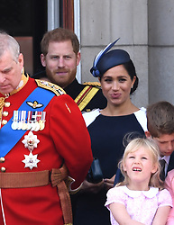 The Duke of Sussex and The Duchess of Sussex attending Trooping The Colour, Buckingham Palace, London. Picture credit should read: Doug Peters/EMPICS