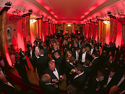 CARDIFF, WALES - Monday, October 5, 2015: Guests during the FAW Awards Dinner at Cardiff City Hall. (Pic by Ian Cook/Propaganda)