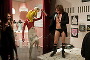 JIMMY; PANDEMONIA PANDEMONIA, HOUSE OF BLUEEYES ? show  in the Undercover exhibition. Fashion and Textile Museum, Bermondsey Street<br /> London. 25 July 2009<br /> JIMMY; PANDEMONIA PANDEMONIA, HOUSE OF BLUEEYES Ð show  in the Undercover exhibition. Fashion and Textile Museum, Bermondsey Street<br /> London. 25 July 2009