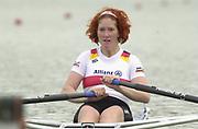 Seville, Andulucia, SPAIN<br /> <br /> 2002 World Rowing Championships - Seville - Spain Sunday 15/09/2002<br /> <br /> GER W1X Katrin Stomporowski<br /> <br /> [Mandatory Credit:Peter SPURRIER/Intersport Images]