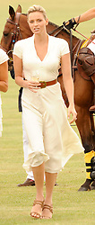 Asprey World Class Cup polo held at Hurtwood Park Polo Club, Ewhurst, Surrey on 17th July 2010.<br /> Picture shows:- Right, Charlene Wittstock.