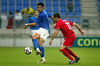 Fotball <br /> FIFA World Youth Championships 2005<br /> Nederland / Holland<br /> Foto: ProShots/Digitalsport<br /> <br /> italia - syria, tilburg, 15-06-2005<br /> <br /> graziano pelle en abd dakka