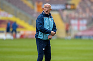Scunthorpe United Assistant Manager Mark Lillis, half body portrait during the EFL Sky Bet League 2 match between Bradford City and Scunthorpe United at the Utilita Energy Stadium, Bradford, England on 1 May 2021.