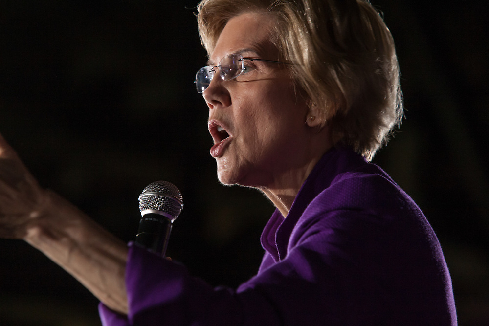 Long Island City, NY – 8 March 2019. Massachusetts Senator and Democratic Presidential candidate Elizabeth Warren drew an enthusiastic crowd at an organizing rally for her 2020 presidential campaign in Long Island City.