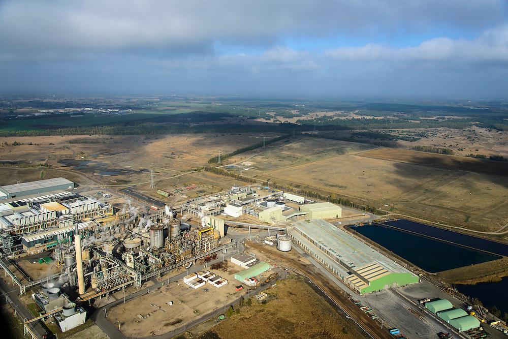 Nederland, Limburg, Budel, 24-10-2013;  Loozerheide  met de Zinkfabriek (Nyrstar Budel).<br /> Moorland with the  zinc factory (Nyrstar Budel).<br /> luchtfoto (toeslag op standaard tarieven);<br /> aerial photo (additional fee required);<br /> copyright foto/photo Siebe Swart.