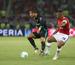 August 8, 2017 - Skopje, Macedonia - Real Madrid's Portuguese forward Cristiano Ronaldo during the UEFA Super Cup football match between Real Madrid and Manchester United on August 8, 2017, at the Philip II Arena in Skopje. (Credit Image: © Raddad Jebarah/NurPhoto via ZUMA Press)
