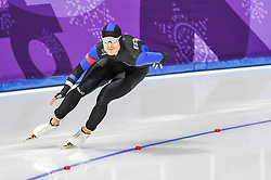 February 23, 2018 - Pyeongchang, Gangwon, South Korea - Marten Liiv of  Estonia at 1000 meter speedskating at winter olympics, Gangneung South Korea on February 23, 2018. (Credit Image: © Ulrik Pedersen/NurPhoto via ZUMA Press)