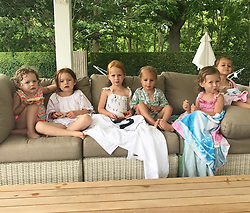 """Hilaria Baldwin releases a photo on Instagram with the following caption: """"#SquadGoals \ud83d\udc96\ud83d\udc9c\ud83d\udc96\ud83d\udc9c\ud83d\udc96\ud83d\udc9c"""". Photo Credit: Instagram *** No USA Distribution *** For Editorial Use Only *** Not to be Published in Books or Photo Books ***  Please note: Fees charged by the agency are for the agency's services only, and do not, nor are they intended to, convey to the user any ownership of Copyright or License in the material. The agency does not claim any ownership including but not limited to Copyright or License in the attached material. By publishing this material you expressly agree to indemnify and to hold the agency and its directors, shareholders and employees harmless from any loss, claims, damages, demands, expenses (including legal fees), or any causes of action or allegation against the agency arising out of or connected in any way with publication of the material."""