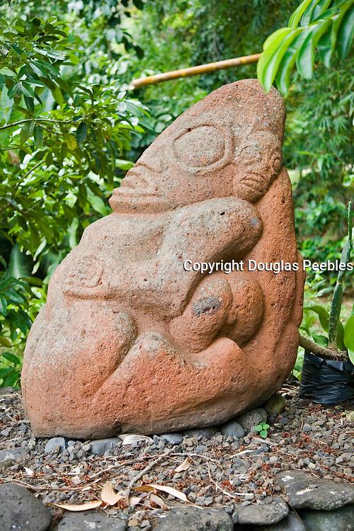 Tiki, Vaipaee Community Botanical Garden, Ua Huka, Marquesas Islands, French Polynesia<br />