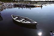 A Baptism at Clark's Harbor on Cape Sable Island. Nova Scotia, Canada.