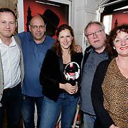 NLD/Amsterdam/20190509 - Audiodrama De Kriminalist aan Anniko van Santen, Peter Swinkels, Simon de Waal, Aniko van Santen en scriptschrijver Dick van den Heuvel