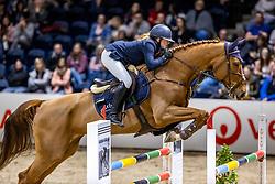 KNACK Alia (GER), Blue Balou<br /> Finale HGW-Bundesnachwuchschampionat der Springreiter <br /> gefördert durch die Horst-Gebers-Stiftung <br /> In Memoriam Debby Winkler<br /> Stilspringen Kl. M*<br /> Nat. style jumping competition Kl. M*<br /> Braunschweig - Classico 2020<br /> 08. März 2020<br /> © www.sportfotos-lafrentz.de/Stefan Lafrentz