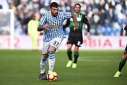 February 24, 2019 - Reggio Emilia, Reggio Emilia, Italia - Foto Claudio Grassi/LaPresse.24 febbraio 2019 Reggio Emilia (RE) Italia.sport .calcio.Sassuolo vs SPAL - Campionato di calcio Serie A TIM 2018/2019 - stadio Mapei Stadium-Citta' del Tricolore..Nella foto: Andrea Petagna (#37 SPAL)..Photo Claudio Grassi/LaPresse.February 24, 2019 Reggio Emilia (RE) Italy.sport .soccer.US Sassuolo Calcio vs SPAL - Italian Football Championship League Serie A TIM 2018/2019 - Mapei Stadium-Citta' del Tricolore stadium..In the pic: Andrea Petagna  (Credit Image: © Claudio Grassi/Lapresse via ZUMA Press)
