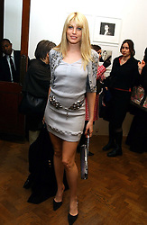 MEREDITH OSTROM at a private view of 'Warhol's World' an exhibition of photography and Television by Andy Warhol held at Hauser & Wirth, Piccadilly, London on 26th January 2006.<br />