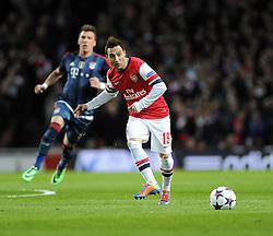 Arsenal's Santi Cazorla - Photo mandatory by-line: Joe Meredith/JMP - Tel: Mobile: 07966 386802 19/02/2014 - SPORT - FOOTBALL - London - Emirates Stadium - Arsenal v Bayern Munich - Champions League - Last 16 - First Leg