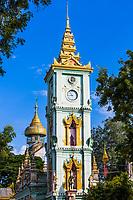 tower clock of the Thanboddhay Phaya near Monywa Myanmar (Burma)