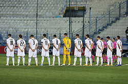 Players of Greece prior to the football match between National teams of Greece and Slovenia in Final tournament of Group Stage of UEFA Nations League 2020, on November 18, 2020 in Georgios Kamaras Stadium, Athens, Greece. Photo by BIRNTACHAS DIMITRIS / INTIME SPORTS / SPORTIDA