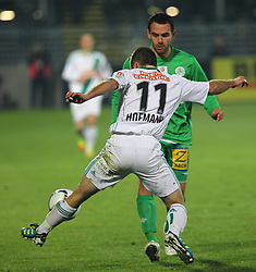 26.11.2011, Pappelstadion, Mattersburg, AUT, 1. FBL, SV Mattersburg vs SK Rapid, im Bild Steffen Hofmann, (SK Rapid Wien, #11) vs Ilco Naumoski, (SV Mattersburg, #24)   during the Austrian Bundesliga Match, SV Mattersburg against SK Rapid, Stadium, Pappelstadion Mattersburg, Austria on 2011-11-26, EXPA Pictures © 2011, PhotoCredit: EXPA/ S. Woldron