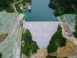 August 2, 2017 - Ceheng, Guizhou, China - An aerial view of the Ceheng Reservoir, which  is located in Ceheng, southwest China's Guizhou Province. (Credit Image: © SIPA Asia via ZUMA Wire)