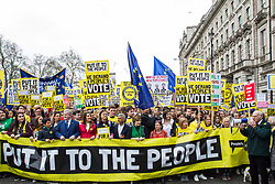 London, UK. 23rd March, 2019. Sir Vince Cable addresses supporters of a People's Vote, including many politicians, before a Put It To The People march by a million people through central London to a rally in Parliament Square addressed by a selection of politicians and entertainers.