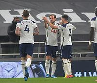 Football - 2020 / 2021 Premier League - Tottenham Hotspur vs Crystal Palace - Tottenham Hotspur Stadium<br /> <br /> Harry Kane of Tottenham celebrates his goal with Matt Doherty<br /> <br /> Credit : COLORSPORT/ANDREW COWIE