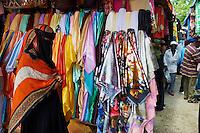 Tanzanie, archipel de Zanzibar, ile de Unguja (Zanzibar), ville de Zanzibar, quartier Stone Town classe patrimoine mondial UNESCO, le marche aux tissus // Tanzania, Zanzibar island, Unguja, Stone Town, unesco world heritage, textile market